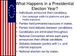 what happens in a presidential election year