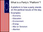 what is a party s platform