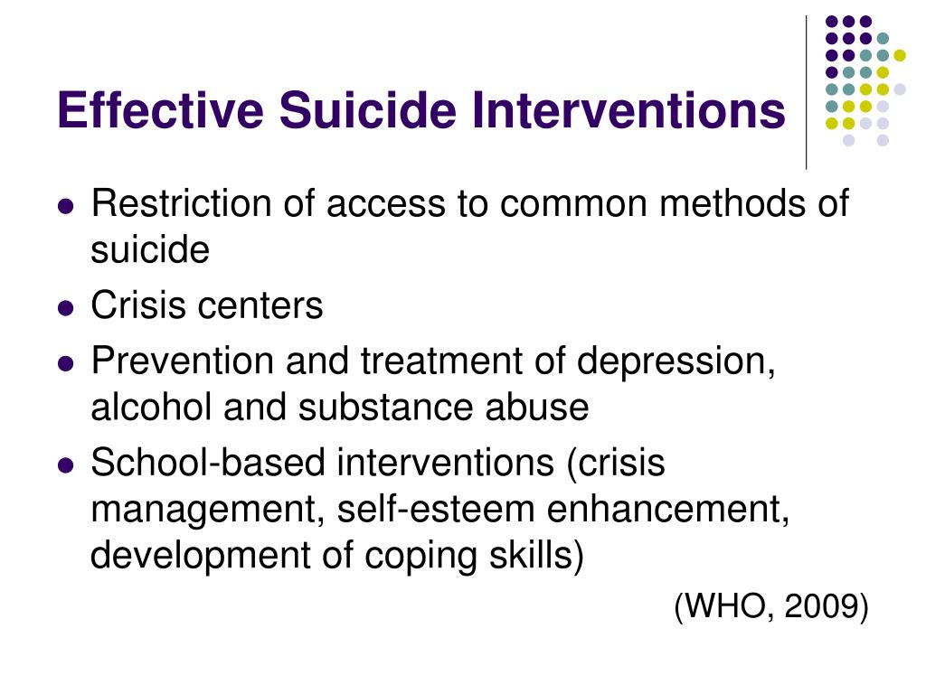 Effective Suicide Interventions