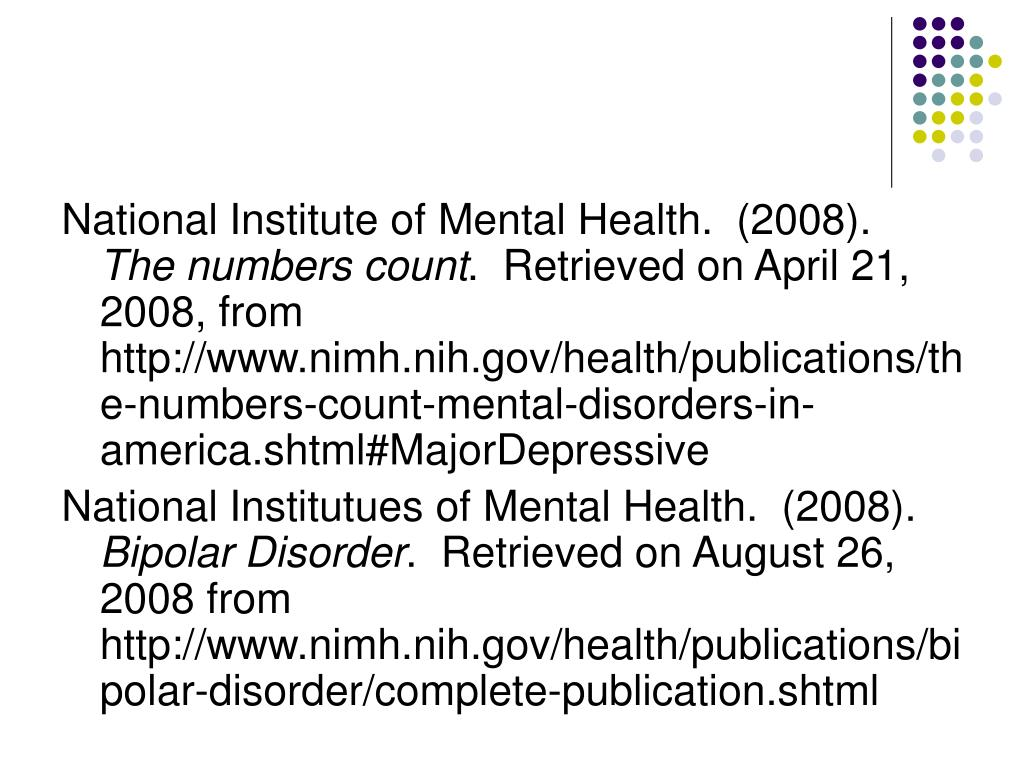 National Institute of Mental Health.  (2008).