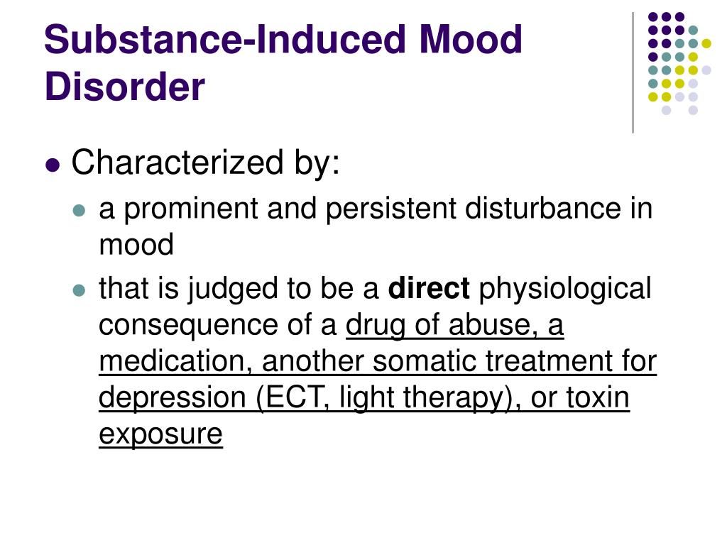 Substance-Induced Mood Disorder