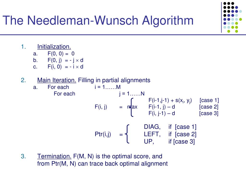 The Needleman-Wunsch Algorithm