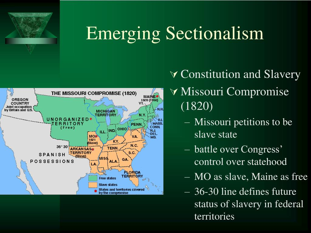 Emerging Sectionalism