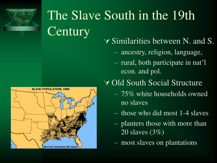 The slave south in the 19th century