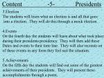 content 5 presidents