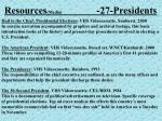 resources media 27 presidents