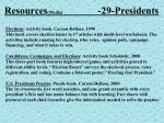 resources media 29 presidents