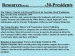 resources media 30 presidents