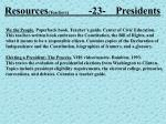 resources teachers 23 presidents