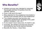 who benefits