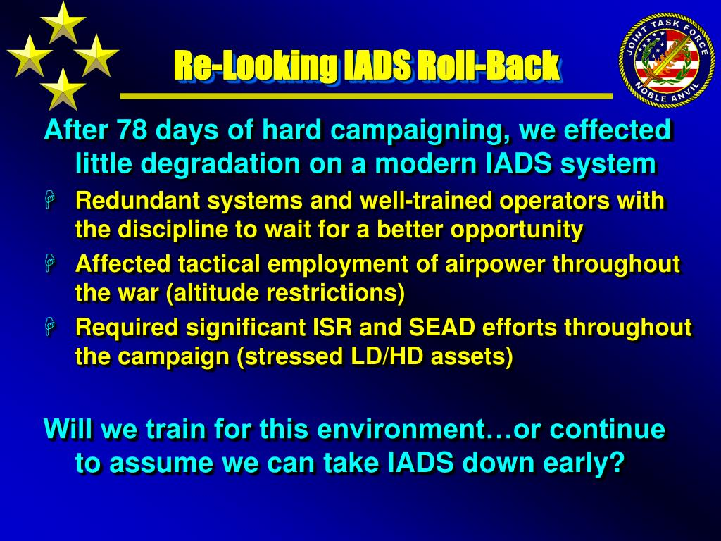 Re-Looking IADS Roll-Back