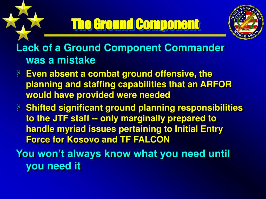 The Ground Component