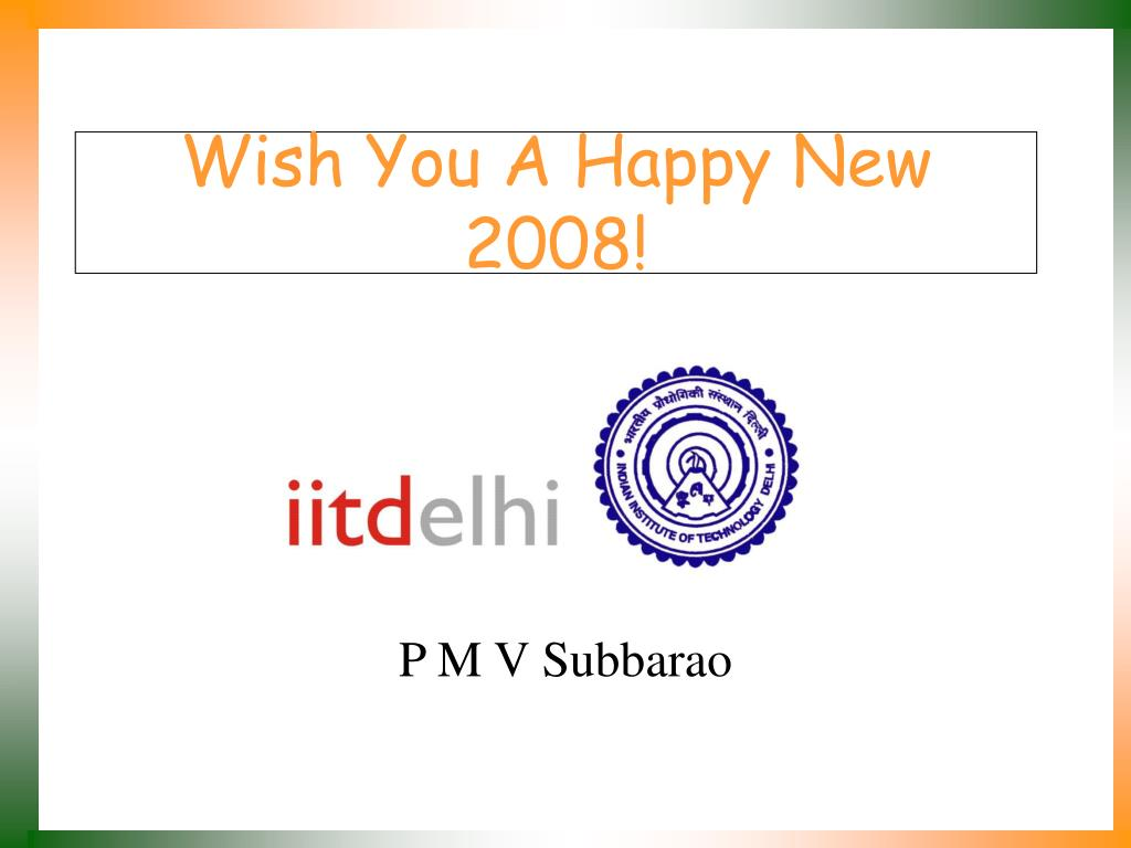 Wish You A Happy New 2008!