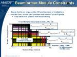 beamformer module constraints