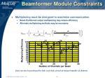 beamformer module constraints19
