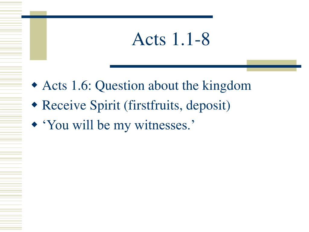 Acts 1.1-8