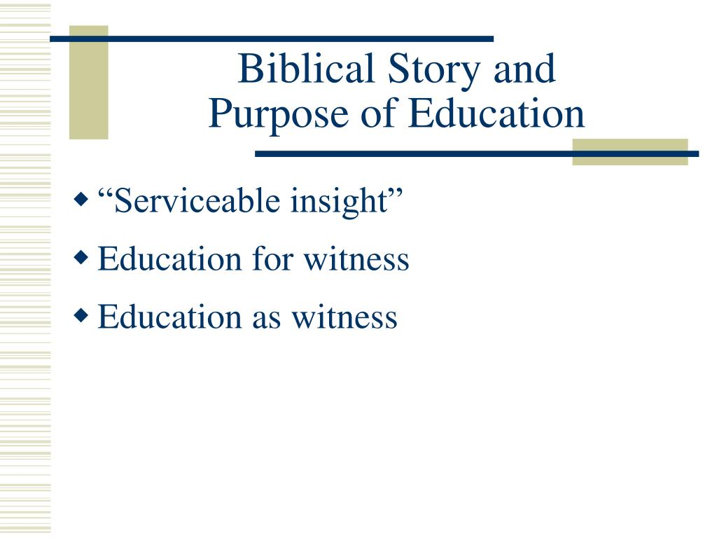 Biblical Story and