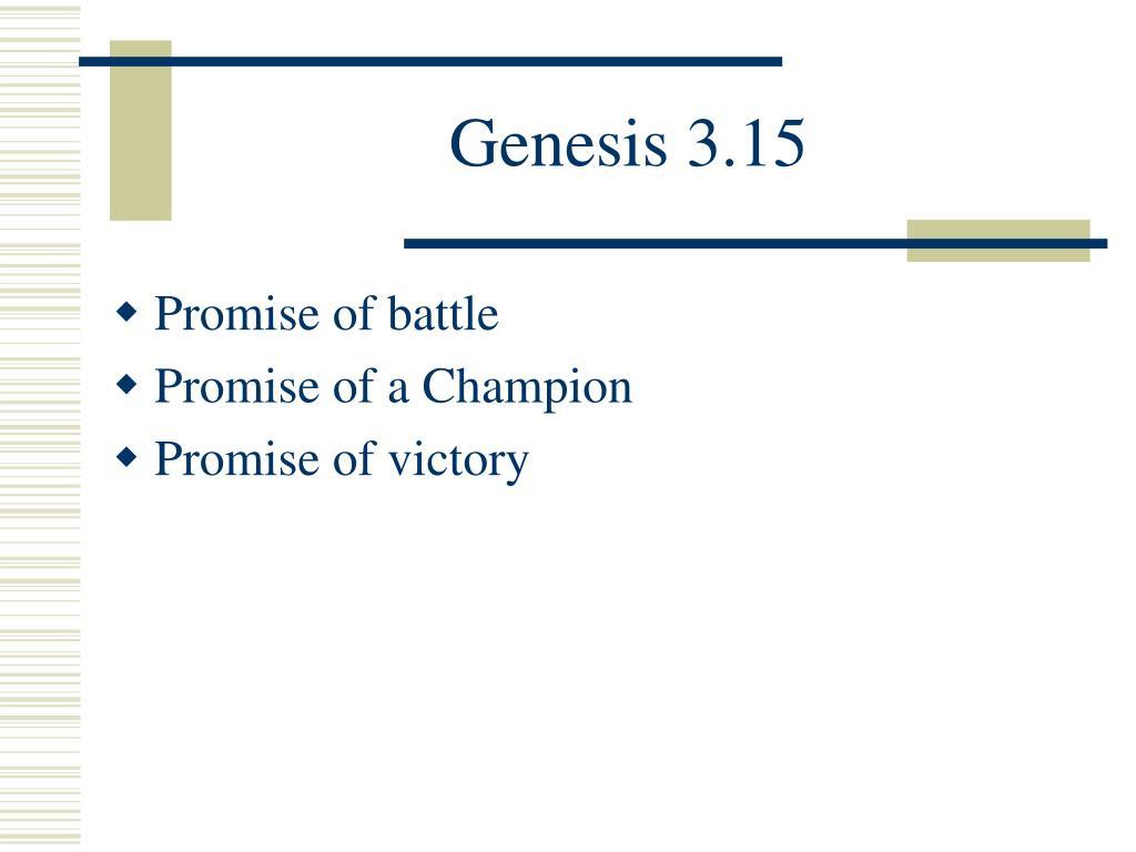 Genesis 3.15