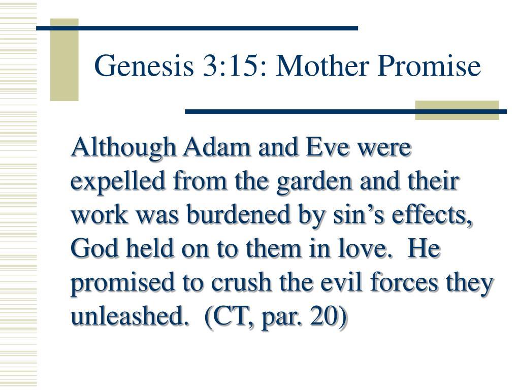 Genesis 3:15: Mother Promise