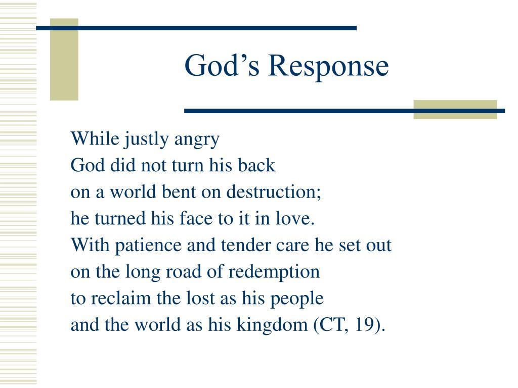 God's Response