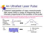 an ultrafast laser pulse