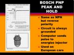bosch pnp peak and hold