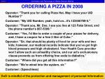 ordering a pizza in 2008