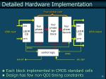 detailed hardware implementation