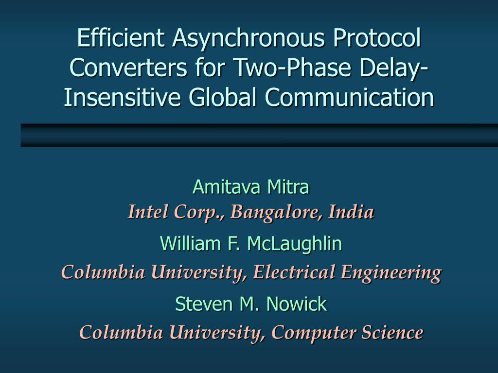 efficient asynchronous protocol converters for two phase delay insensitive global communication l.