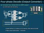 four phase decode output converter
