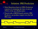 solution pri prediction