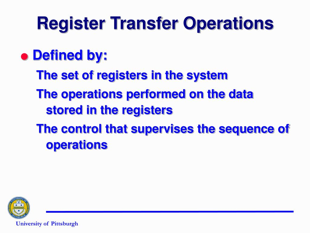 Register Transfer Operations