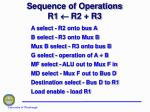 sequence of operations r1 r2 r3