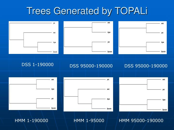 Trees Generated by TOPALi