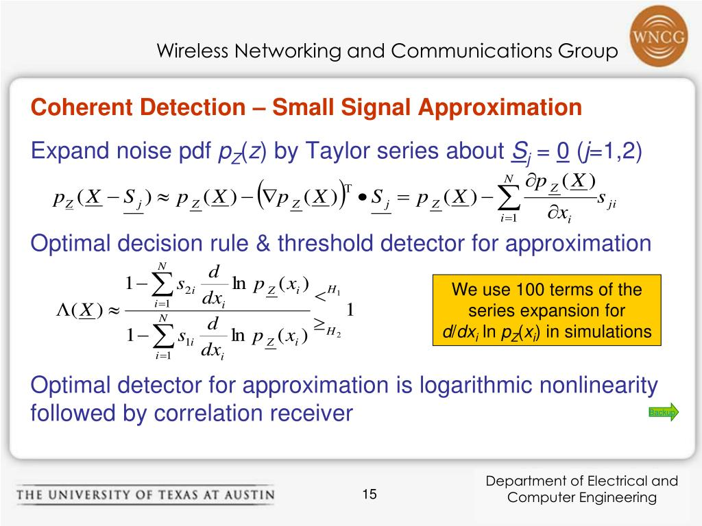 Coherent Detection – Small Signal Approximation