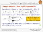 coherent detection small signal approximation