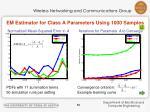 em estimator for class a parameters using 1000 samples