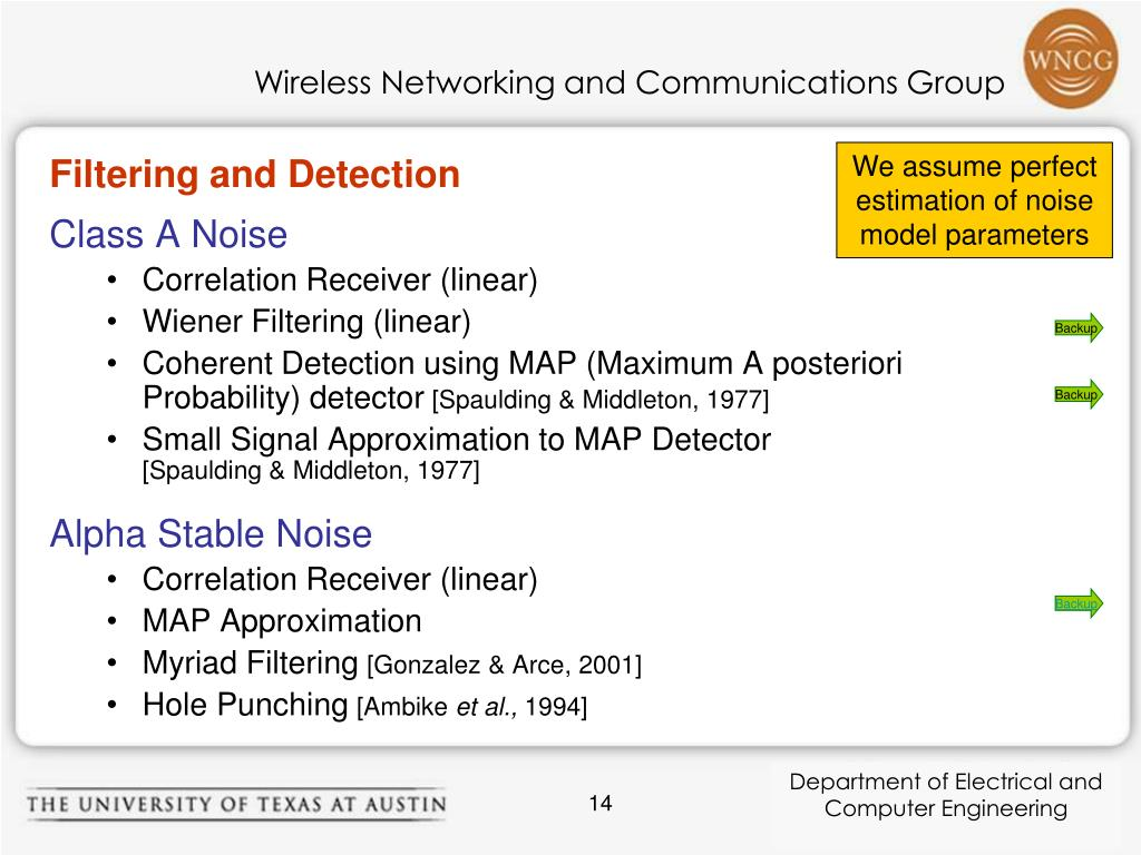 Filtering and Detection