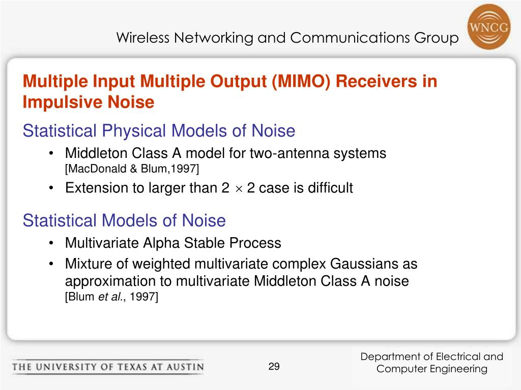 Multiple Input Multiple Output (MIMO) Receivers in Impulsive Noise