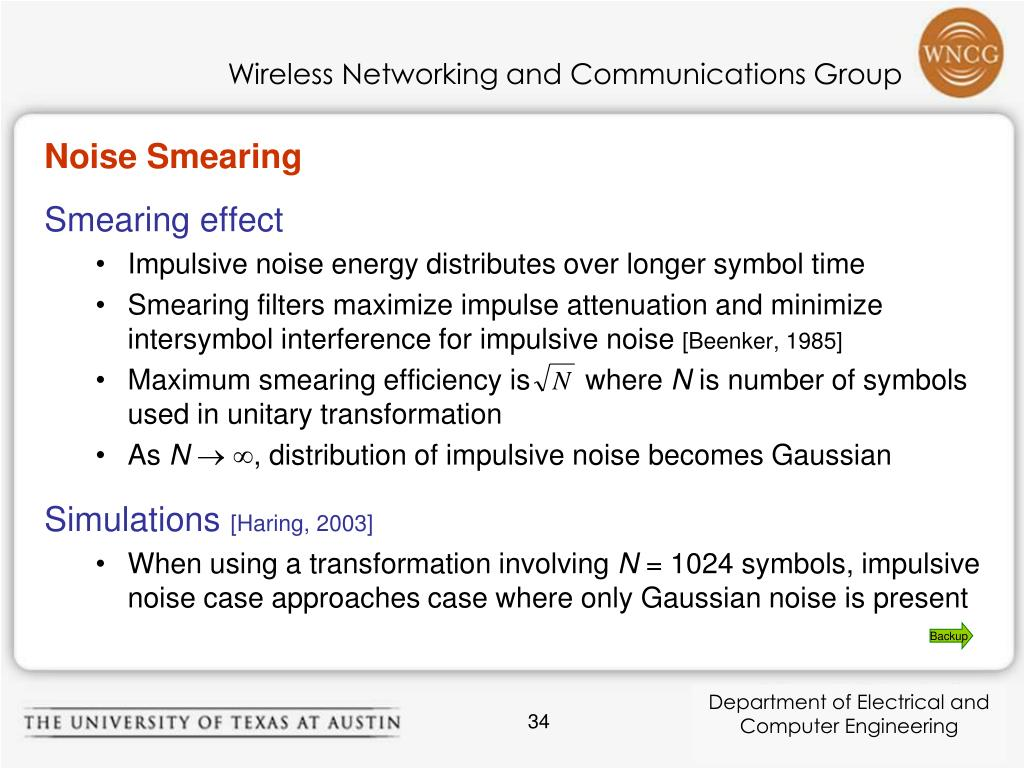Noise Smearing