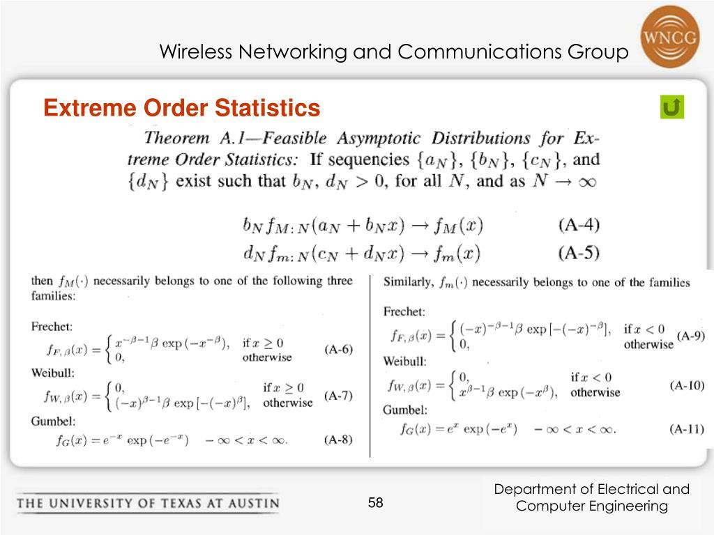 Extreme Order Statistics