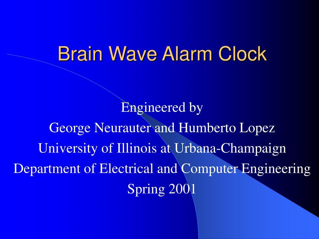 brain wave alarm clock