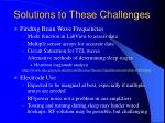 solutions to these challenges