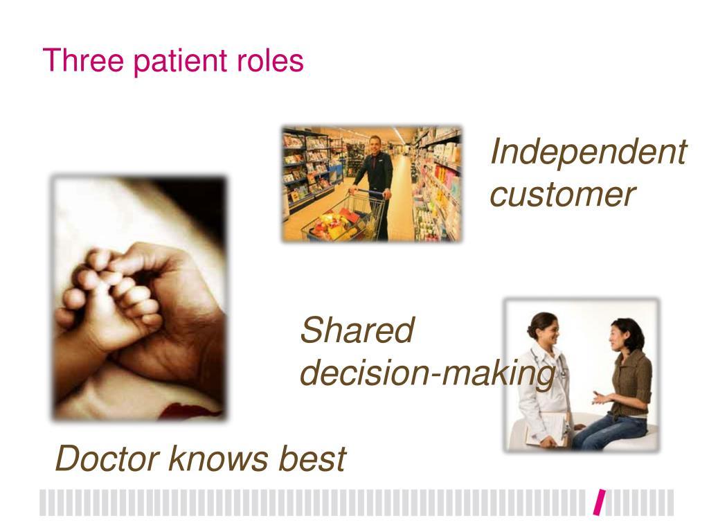 Three patient roles