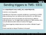 sending triggers to tms eeg