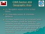 cwa section 404 geographic area