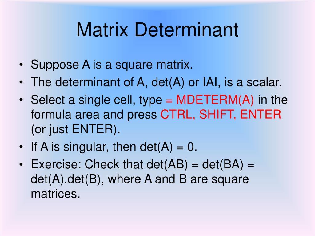 Matrix Determinant