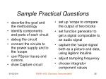sample practical questions
