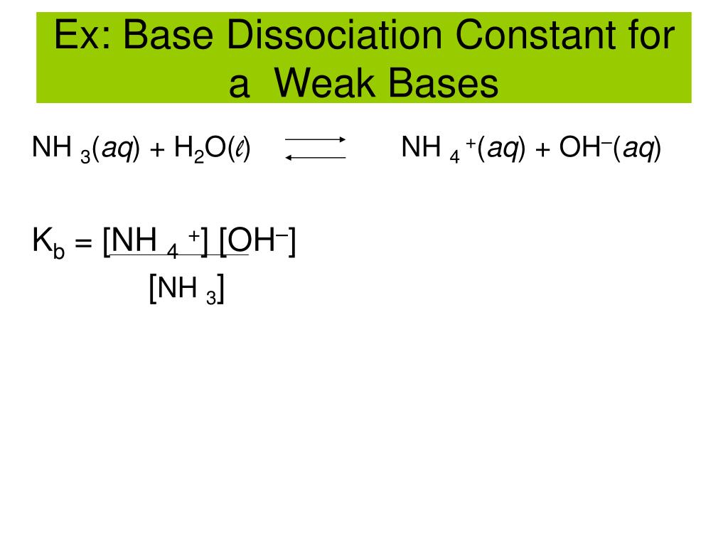 PPT - -Ionization Constants of Acids and Bases -Strengths ...