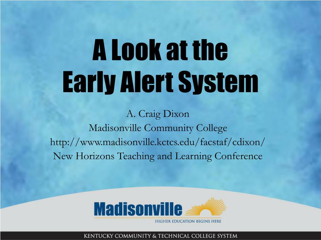 a look at the early alert system